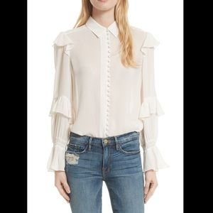 Frame Victorian Blouse. Size S. NWT. Retail- $350